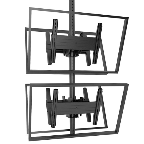 """Chief Fusion MCB1X2U Medium Stacked Ceiling Mount For 26 - 50"""" Displays"""