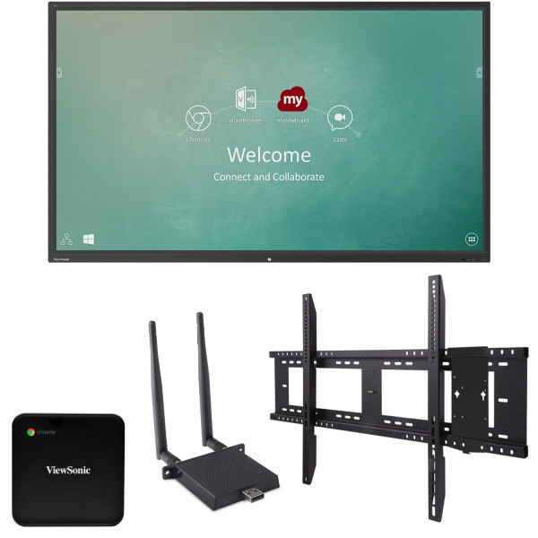 Viewsonic IFP5550-C1 55 inch 4K Ultra HD Interactive Flat Panel Chrome Bundle 1 front